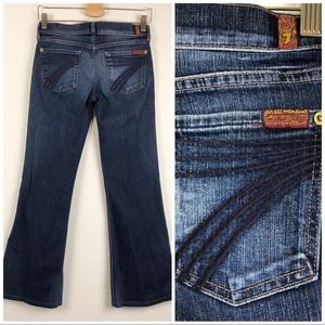 7FAM Dojo Flare Wide Leg Medium Wash Denim Jeans